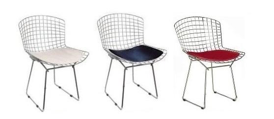 cadeira aramada colorida