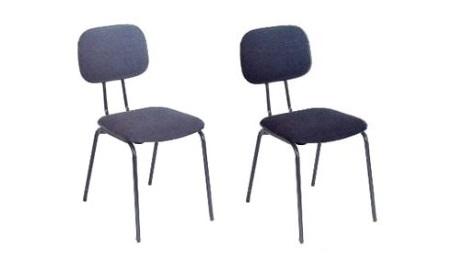 cadeira fixa de tecido