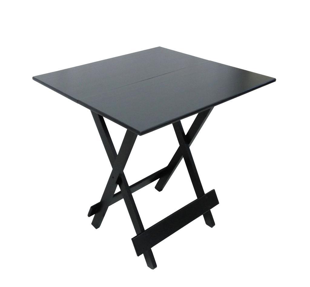mesa de bar dobrável preta