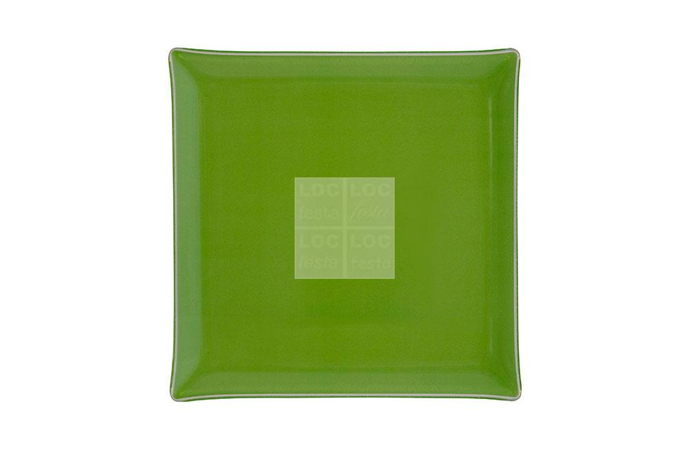 bandeja quad. vidro 35x35 verde