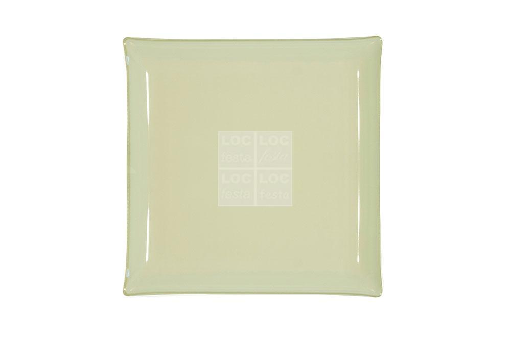 bandeja quad. vidro 35x35 branco