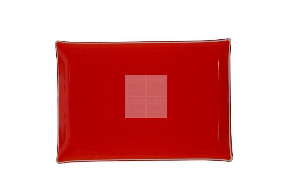 bandeja ret. vidro 40x28 vermelho