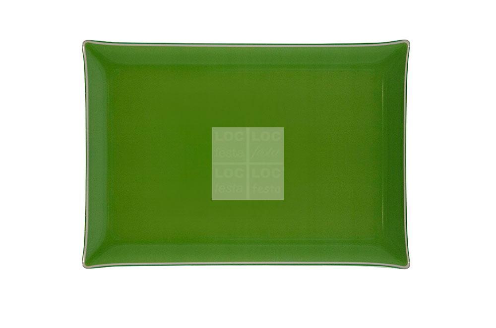 bandeja ret. vidro 40x28 verde