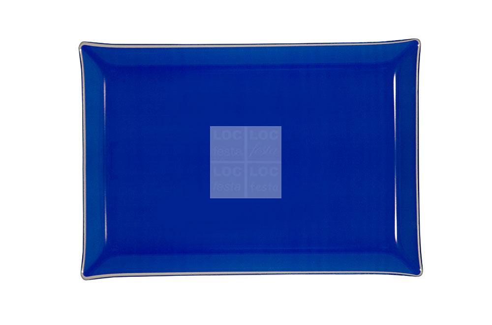 bandeja ret. vidro 40x28 azul