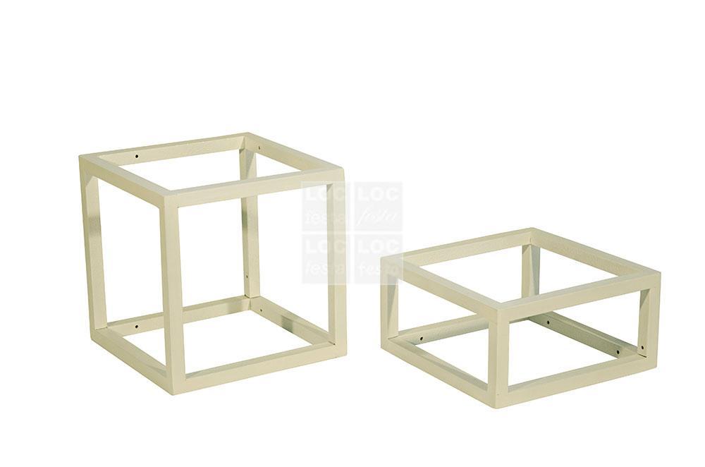 porta saladeira ferro branco