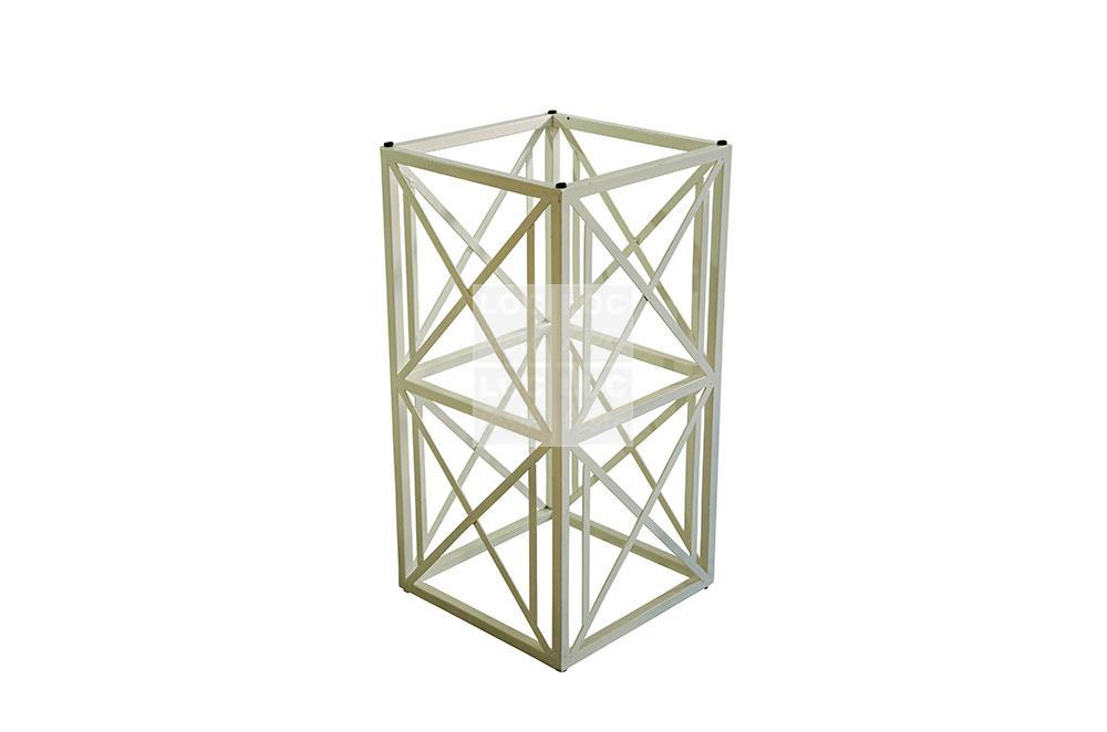 pé ferro branco estrutura x
