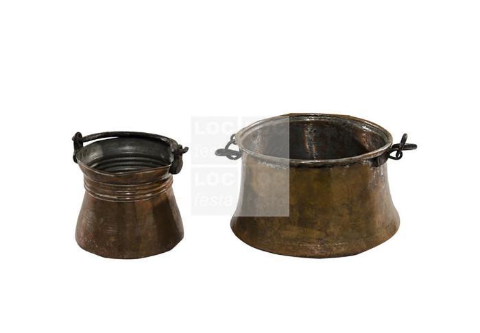 caldeirão de cobre com alça