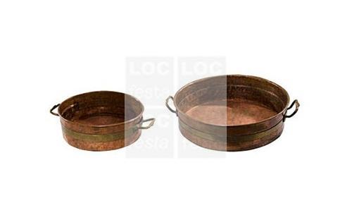 panela de cobre com alça