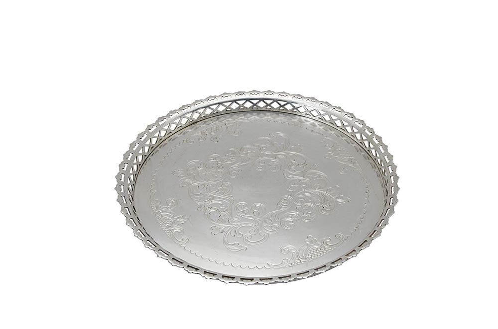bandeja de doce desenho prata 0,43