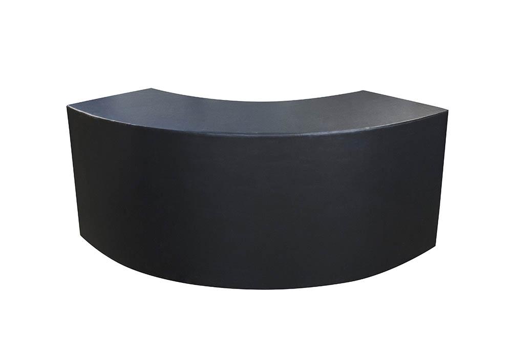 bar curvo 2,20 x 0,60 madeira courvin preto