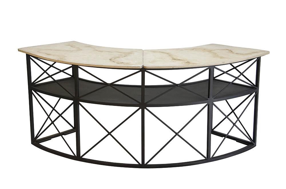bar ferro curvo gr 2,20 x 0,50 – estrutura e tampo madeira