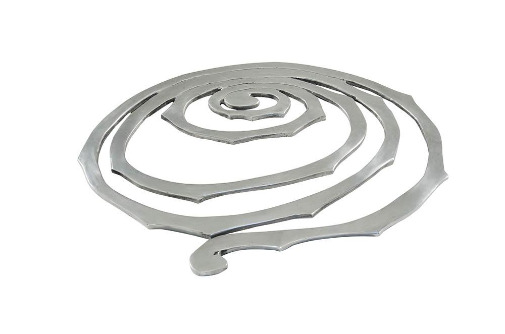 base para lente - alumínio fundido - caracol