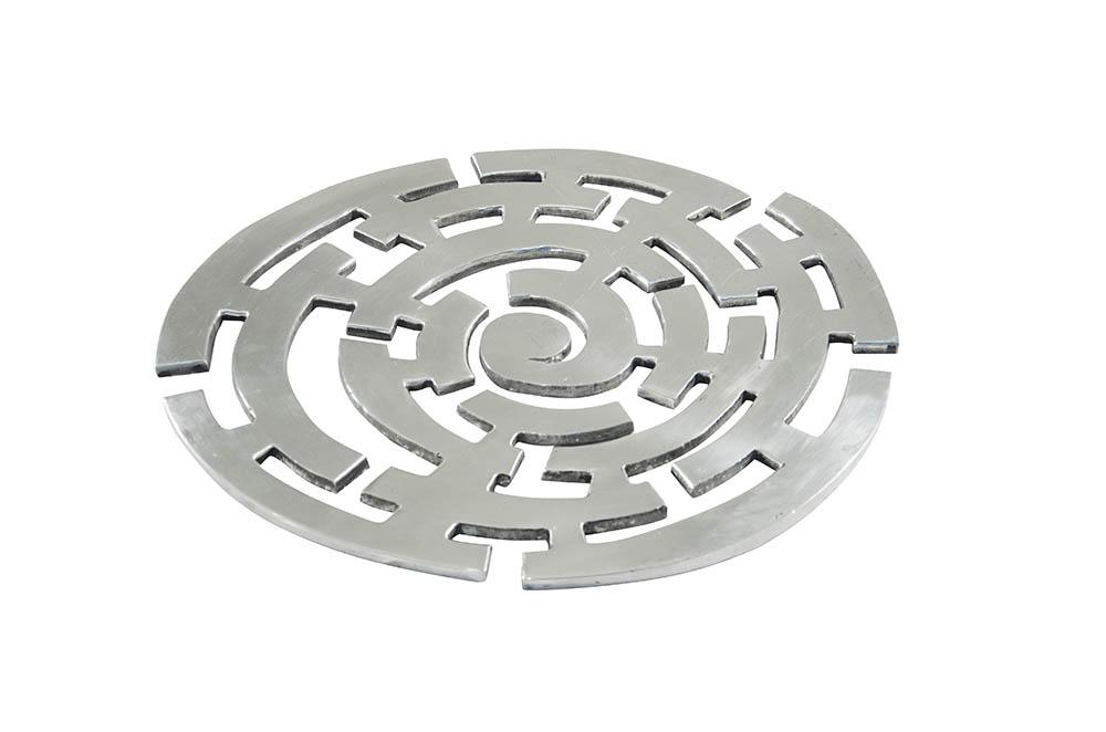 base para lente - alumínio fundido - labirinto