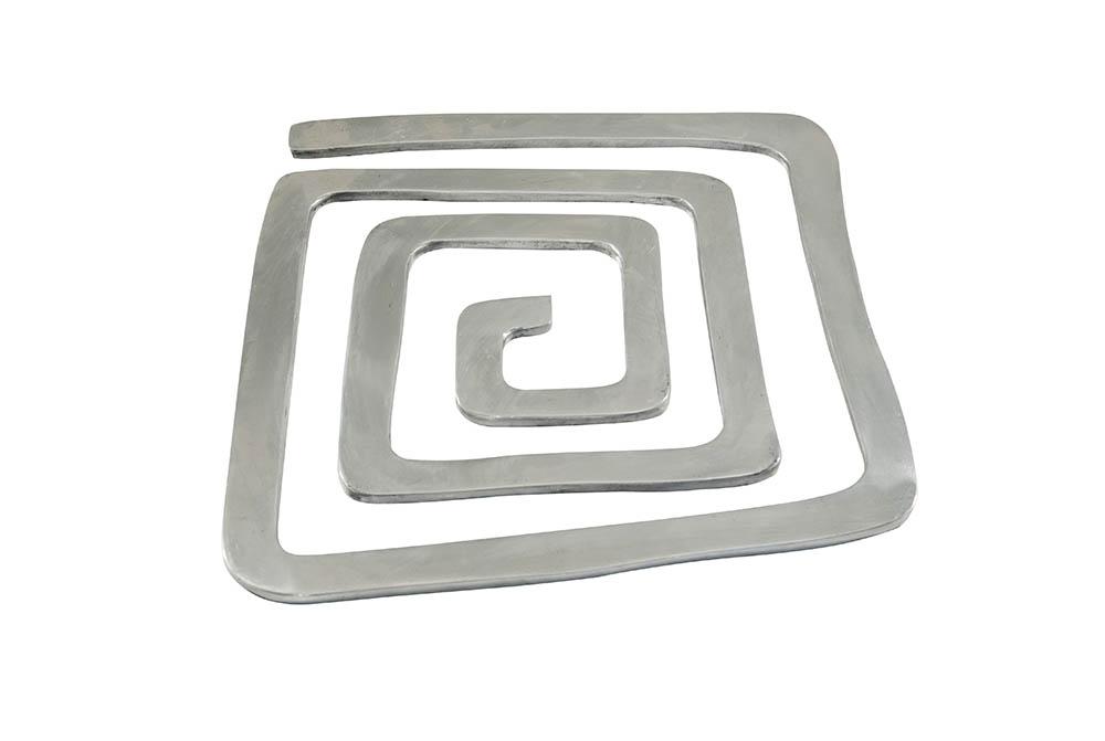 base para lente - alumínio fundido - quadrada