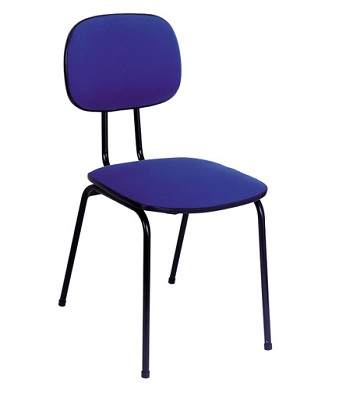 cadeira fixa de courvin colorido