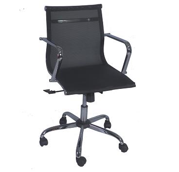 cadeira giratória com braço cromado