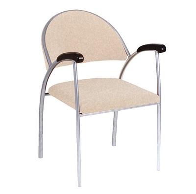 cadeira modernitá bege fixa