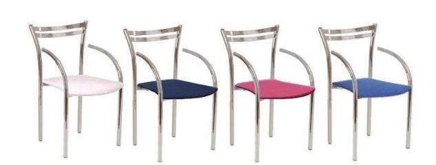 cadeira work cromada com braço