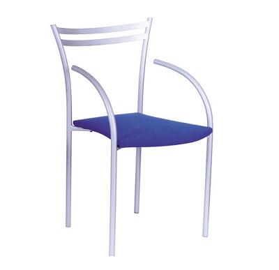 cadeira work prata com braço