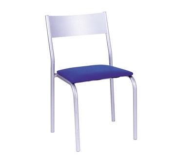 cadeira work prata sem braço
