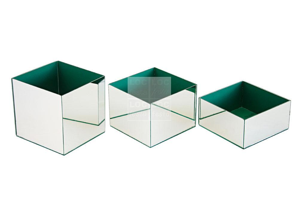 caixa vidro espelhada