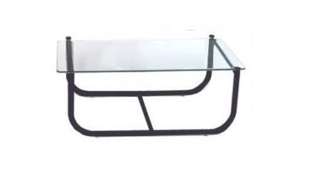 mesa de centro tubular preta