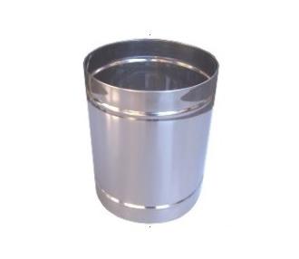 cesto de lixo cromado