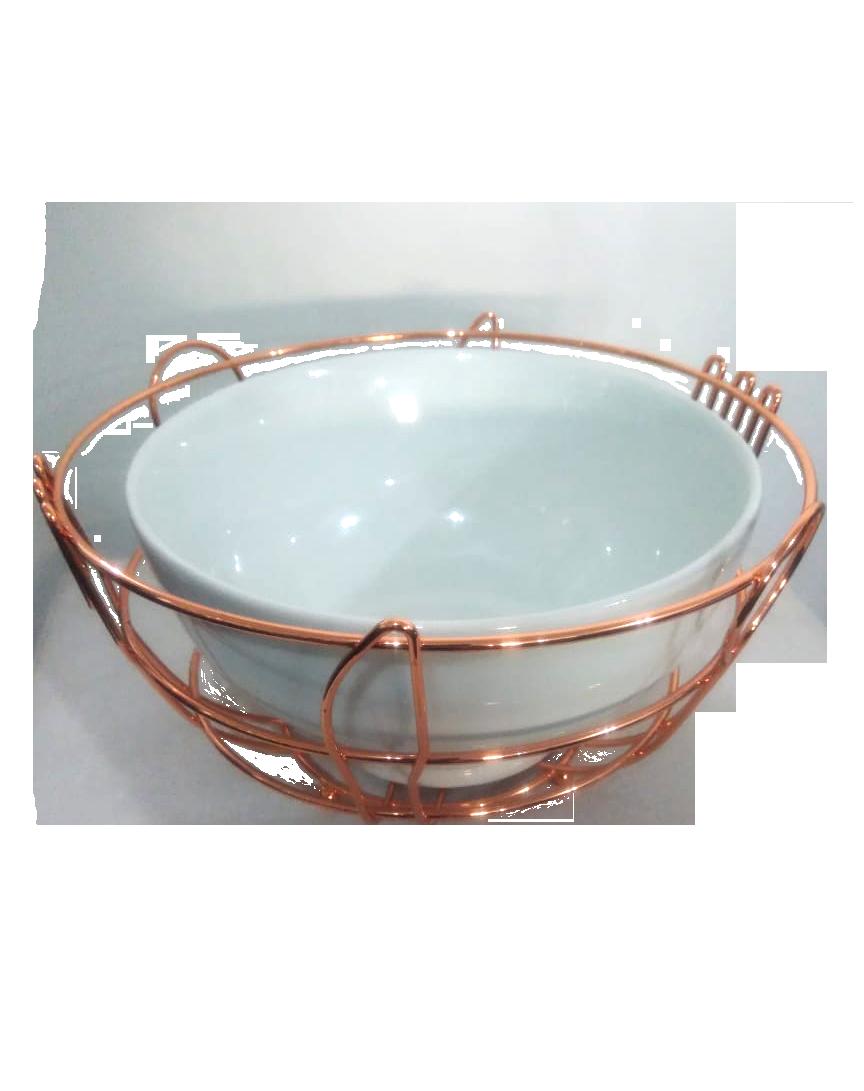 tigela de cerâmica e cobre