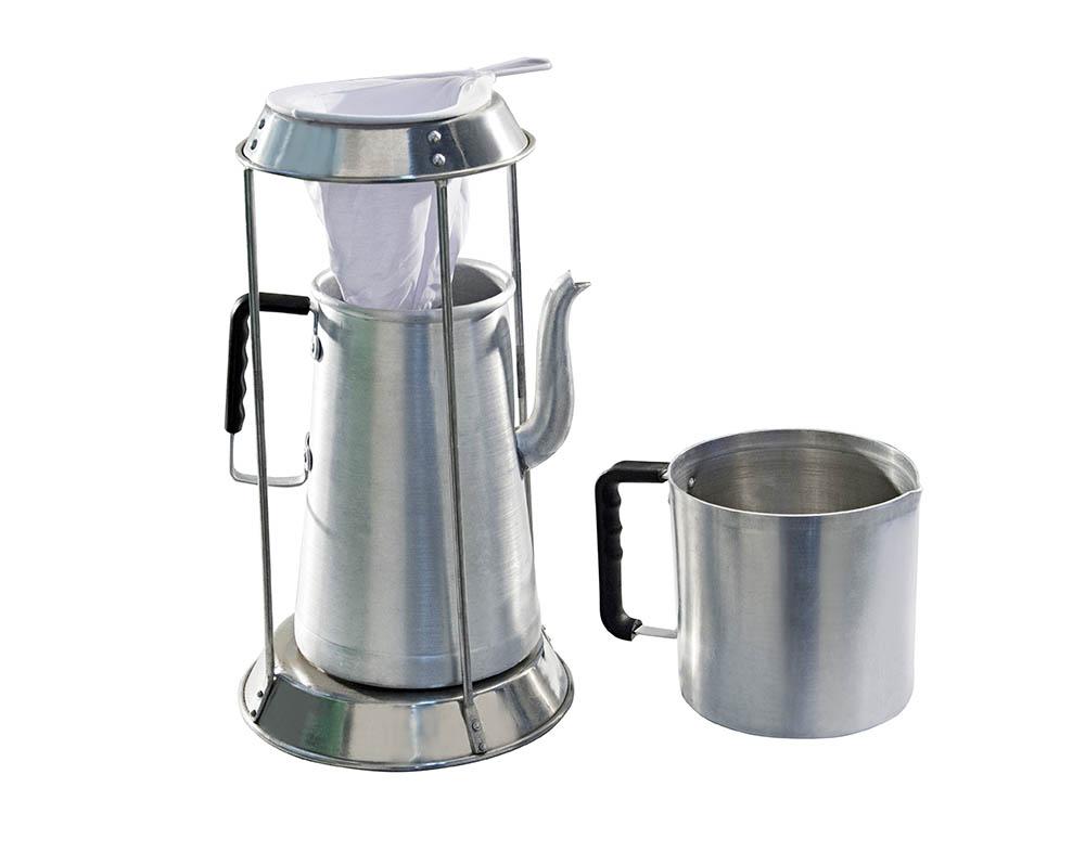 conjunto para café alumínio