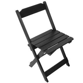 cadeira madeira preta dobrável