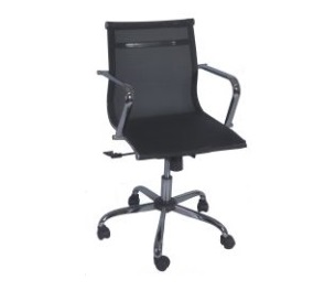 cadeira diretor com braço cromado