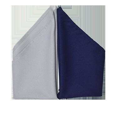 guardanapo 45 x 45 cinza e azul