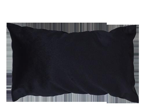 almofada de encosto preto aveludada