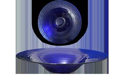 saladeira redonda azul escuro ondulado