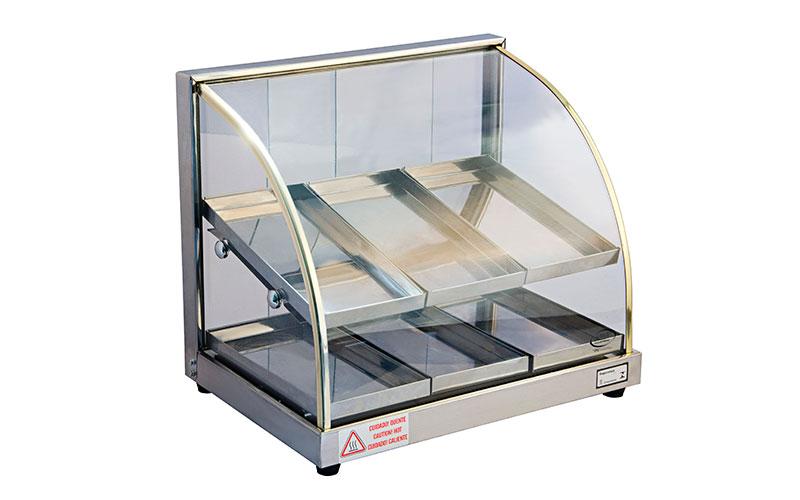 estufa dupla vidro balcão