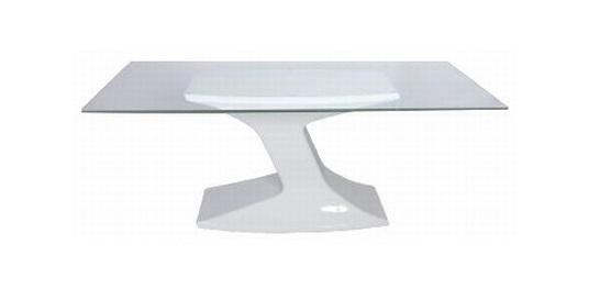 mesa florença - vidro retangular