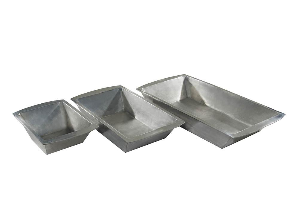 gamela retangular alumínio fundido