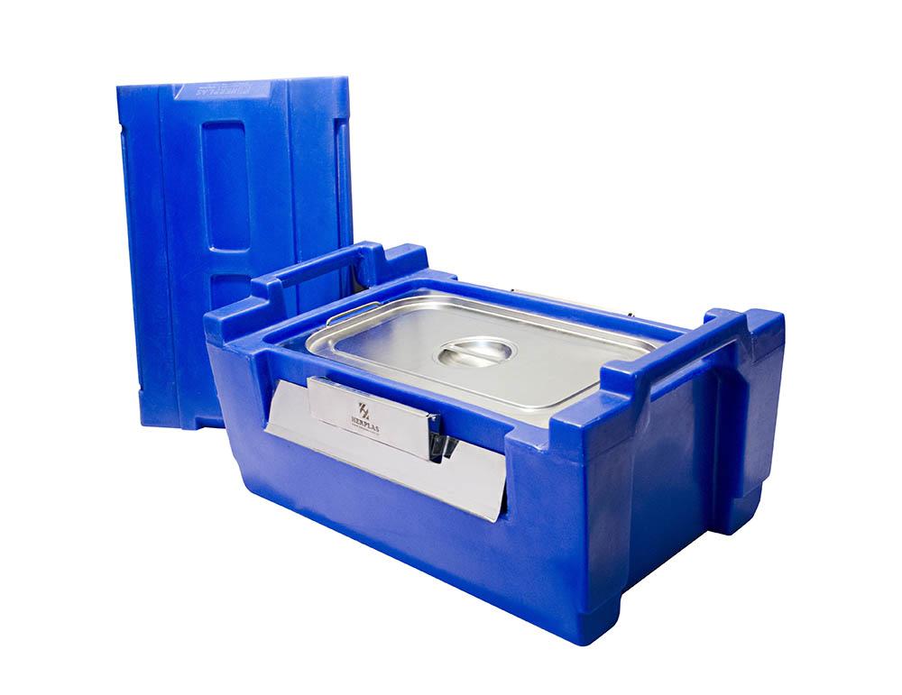 hot box azul com cuba de 1/1 – 30 litros
