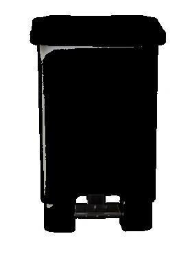 lixeira com pedal preto