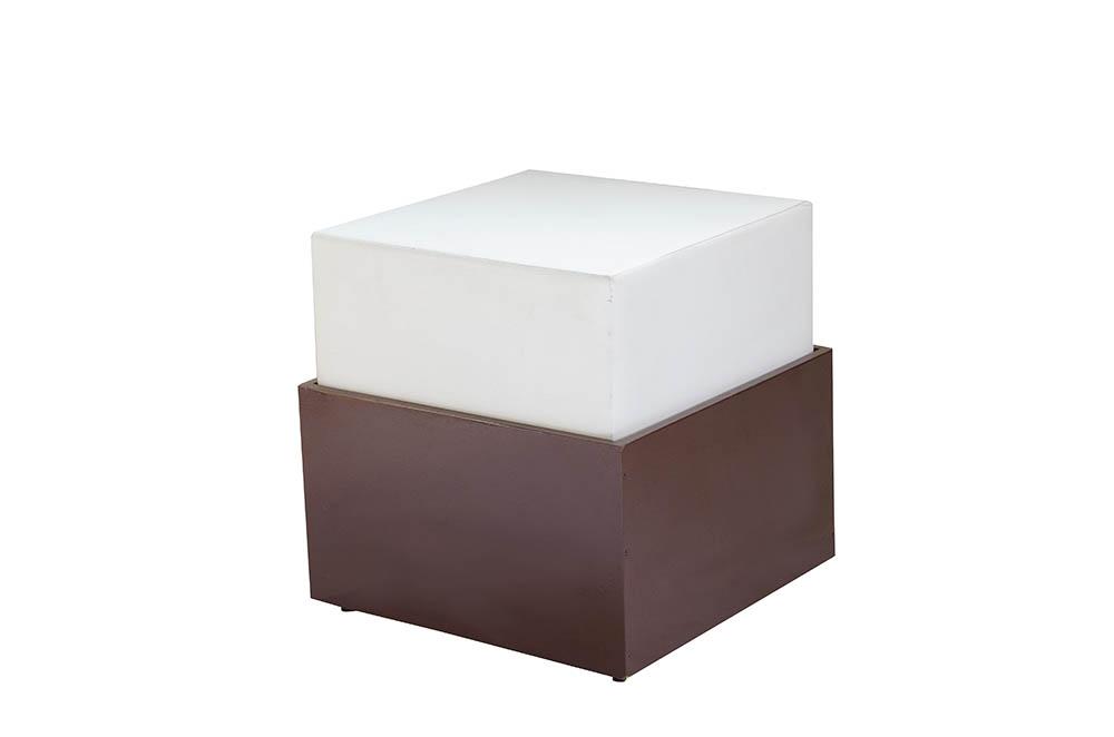 módulo qua. 50x50x50 estofado branco courvin