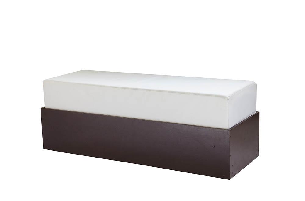 módulo ret. 1,40x0,50x0,50 estofado branco courvin