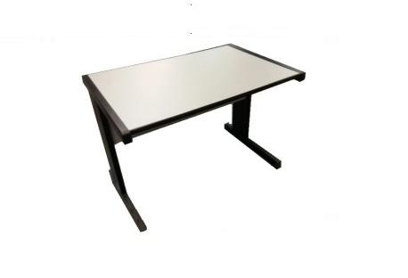 mesa melamina cinza
