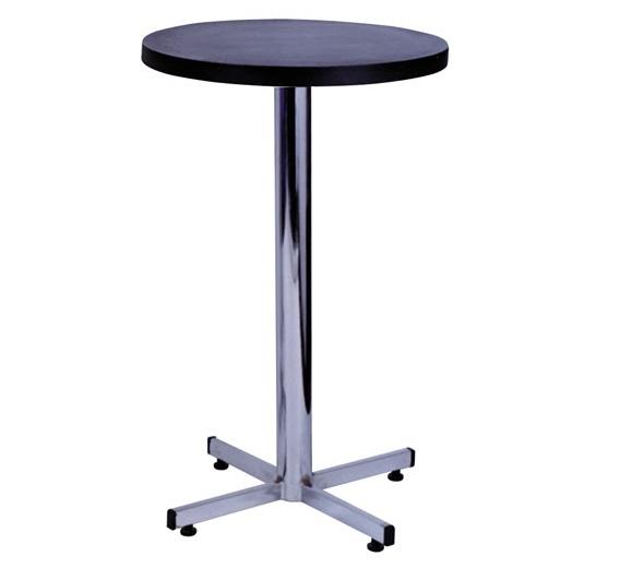 mesa alta de bar com tampo preto