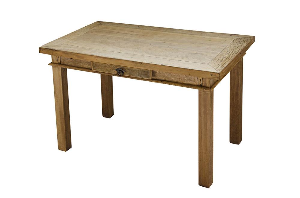 mesa rústica com gaveta