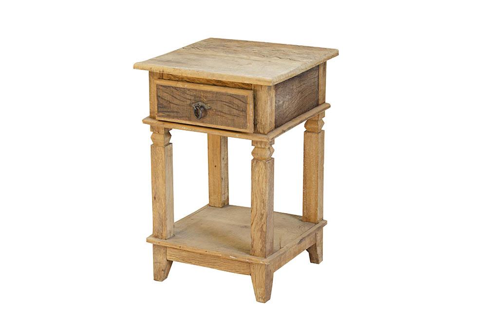 mesa de canto  rústica com gaveta