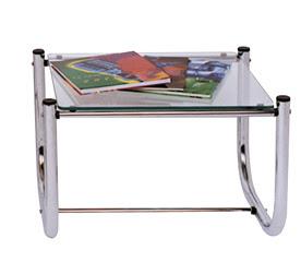 mesa de canto tubular cromada
