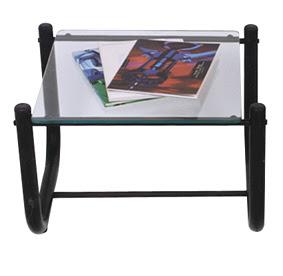 mesa de canto tubular preta