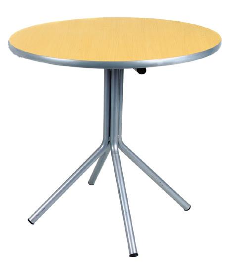 mesa redonda de fórmica com tampo marfim