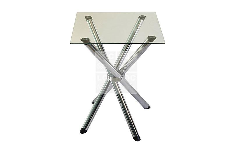 mesa quadrada tampo vidro