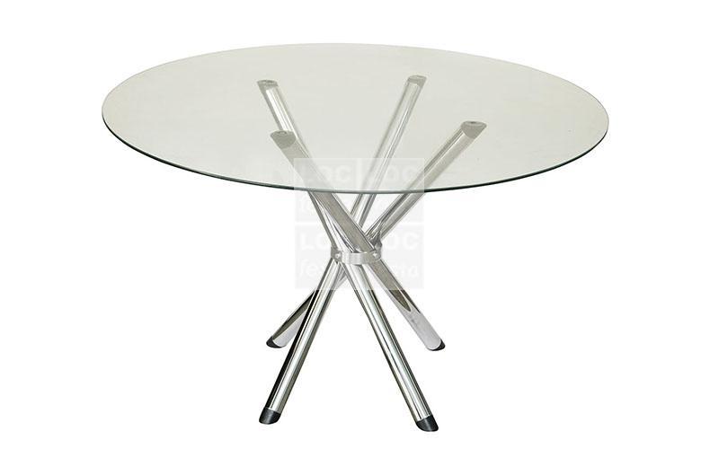 mesa redonda tampo vidro